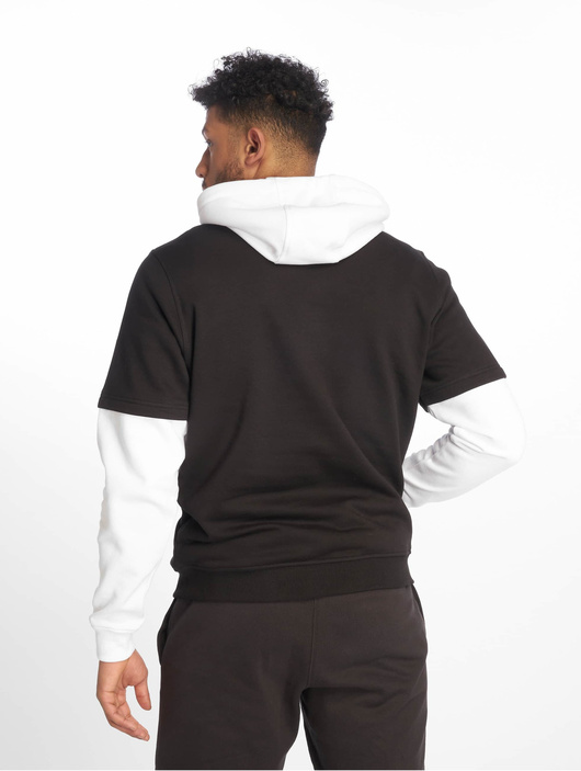 Urban Classics Double Layer Hoody Black/Charcoal image number 1