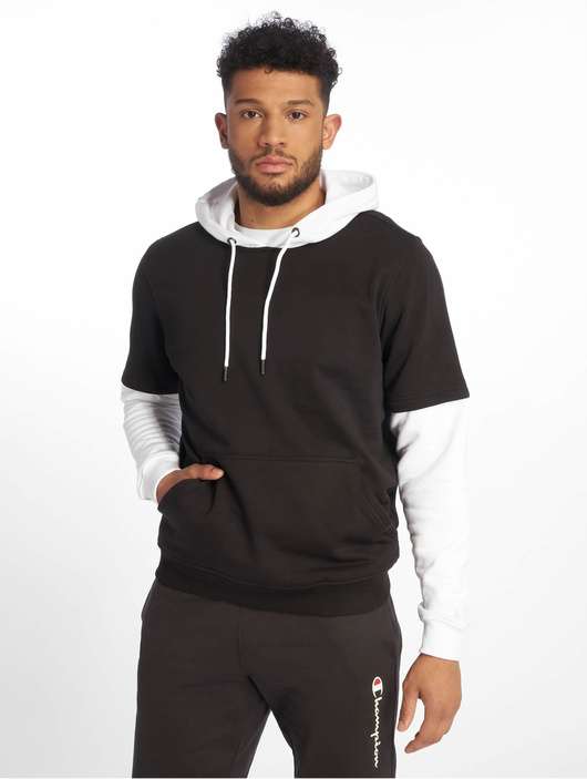 Urban Classics Double Layer Hoody Black/Charcoal image number 2