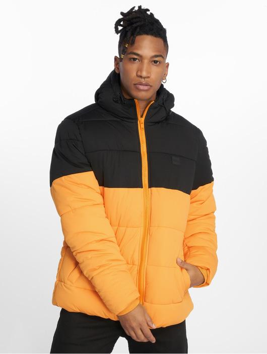Urban Classics Hooded 2 Tone Puffer Jacket Puffer Jacket ChromeyellowBlk