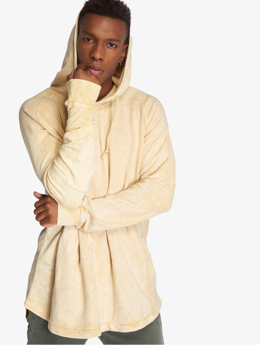 Urban Classics Terry Acid Washed Long Shaped Hoody Olive image number 0