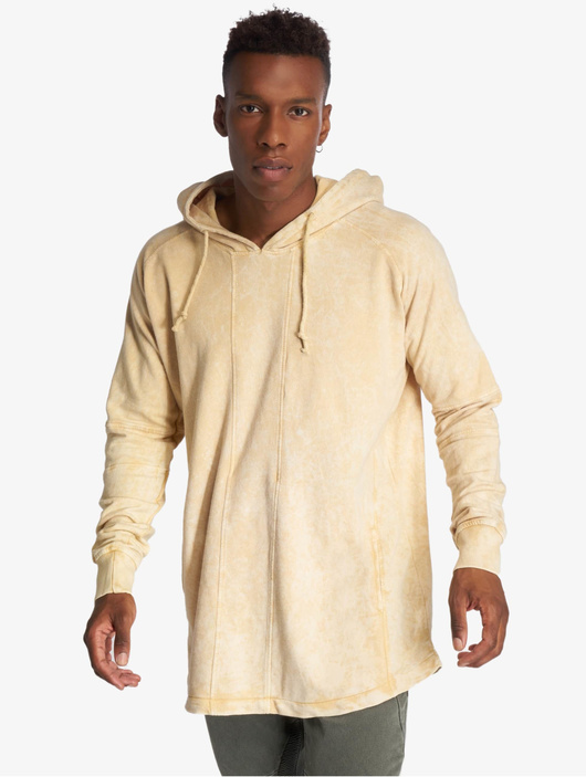 Urban Classics Terry Acid Washed Long Shaped Hoody Olive image number 1