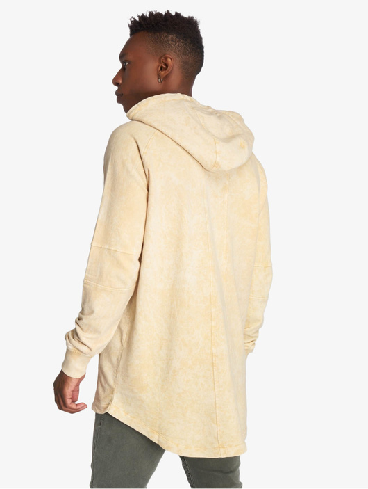 Urban Classics Terry Acid Washed Long Shaped Hoody Olive image number 2
