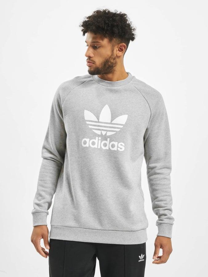 Grey Medium Sweatshirt Adidas Heather Trefoil Nwvmn80
