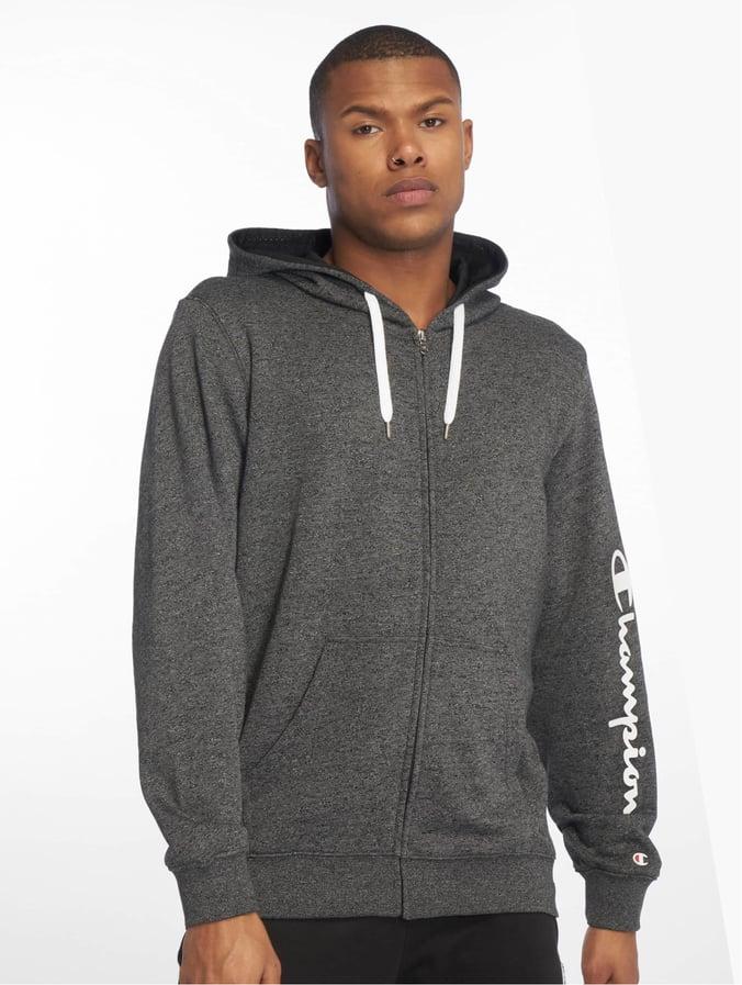 Zip Hooded Whiteblackjaspe Sweatshirt Champion Melangeyarn Full Dyed yYfg76vb