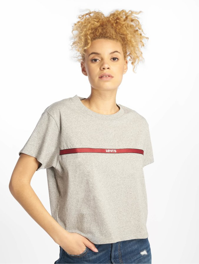 Varsity Gris Femme T Shirt 651676 Levi's®Graphic Tape Text Jl13FTKc