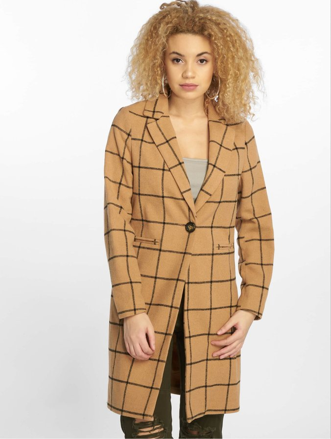 Check 23 Coat Look New Camel Window Grid Yf67vbgy