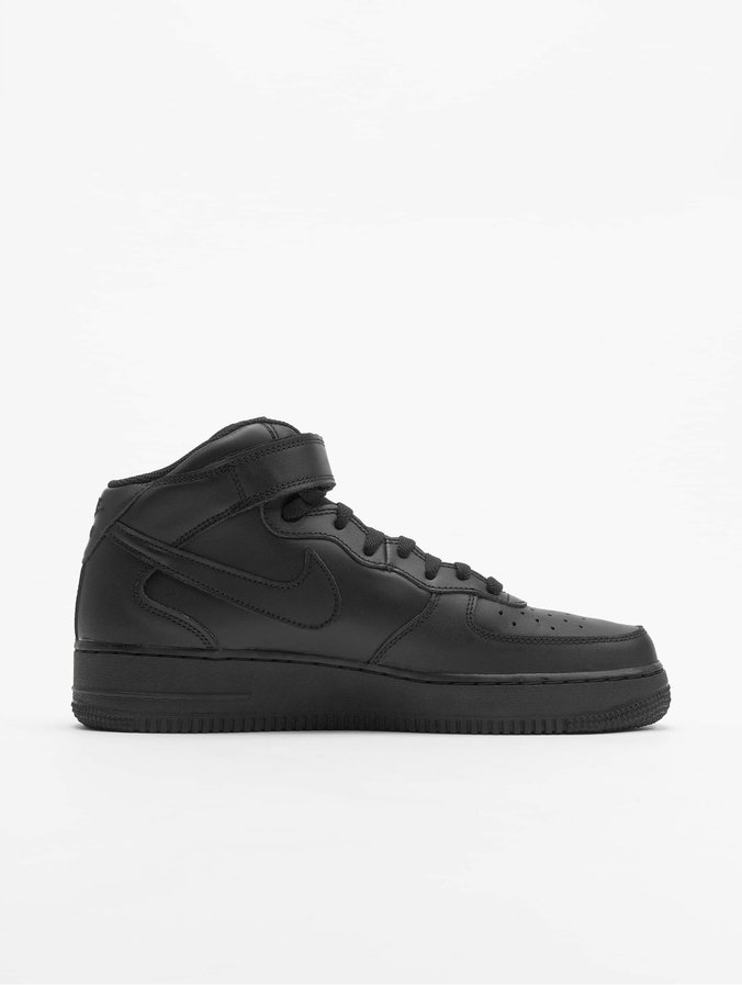 1 Force '07 Mid Air Nike Basketball Shoes Black MzUSVqpG
