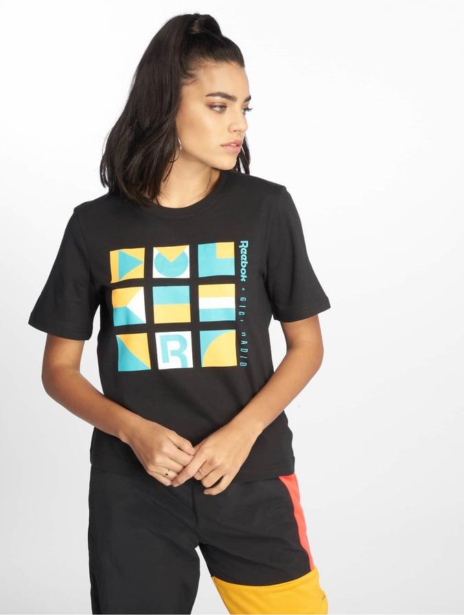 Shirt Black Reebok T Reebok Gigi KJcT3F1l