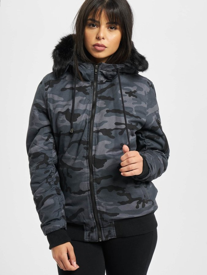 factory authentic 55ae9 670b5 DEF Bomber Winter Jacket Anthracite Camouflage