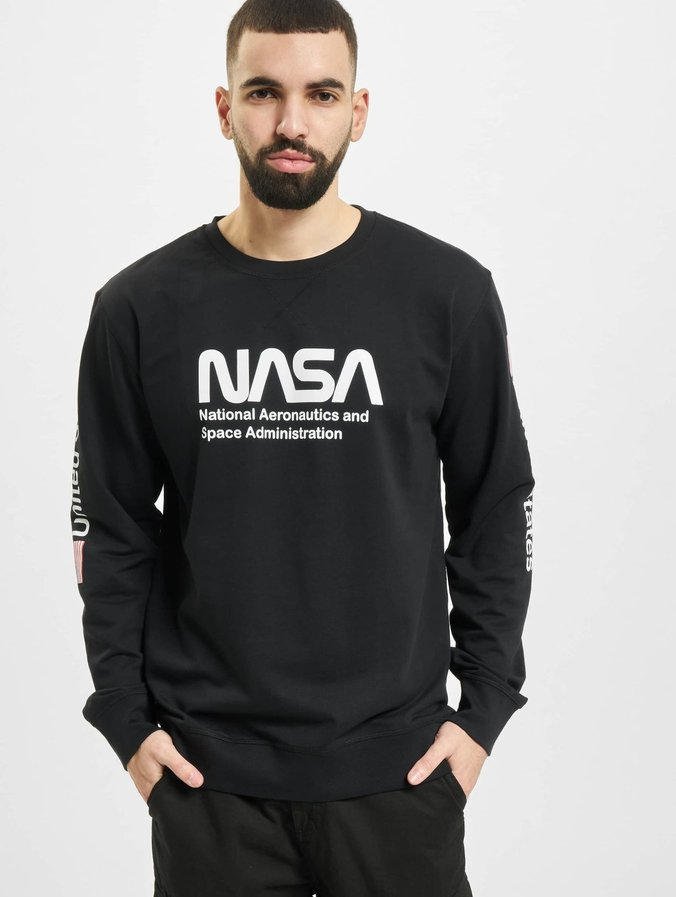 Mister Tee NASA US Sweatshirt Black