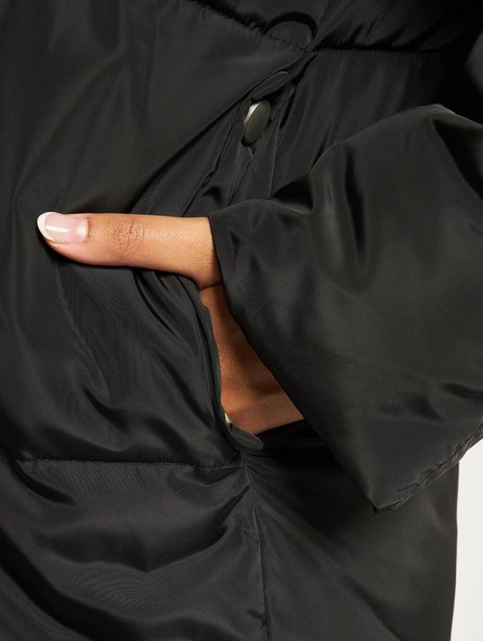 Urban Classics Oversized Hooded Puffer Coat BlackBlack