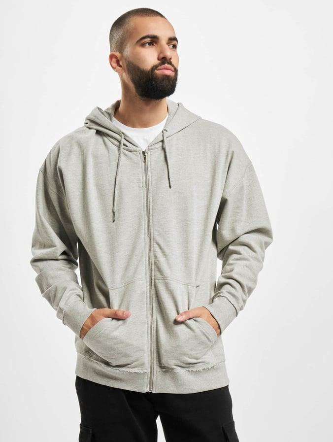 Urban Classics Oversized Sweat Zip Hoody Grey
