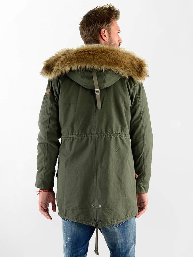 buy popular c5618 19c82 VSCT Clubwear Luxury Parka With Detachable Sherpa Olive
