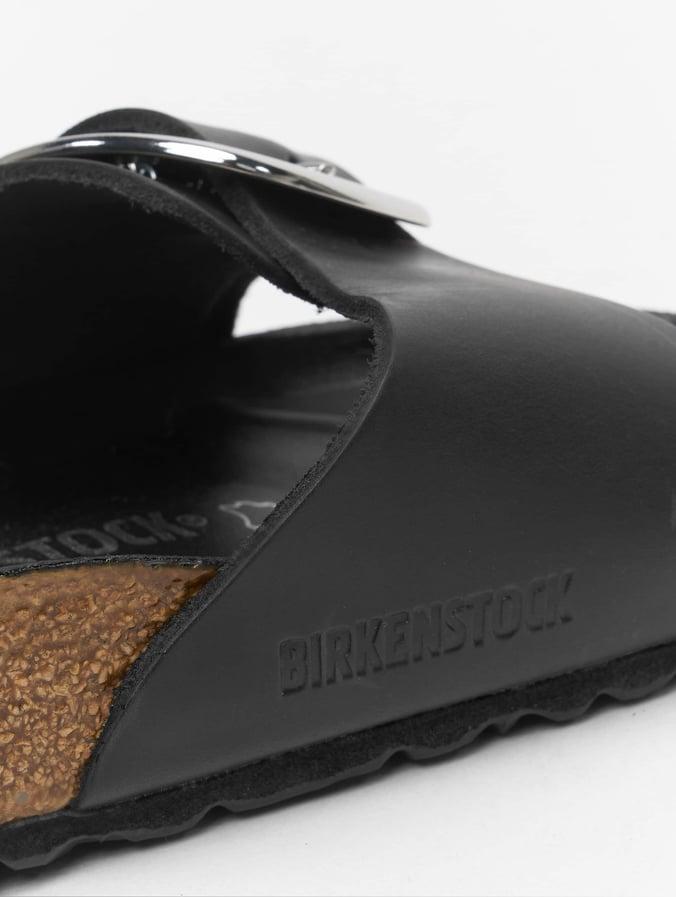 save off 2d554 4b5b2 Birkenstock Madrid Big Buckle Sandals Black