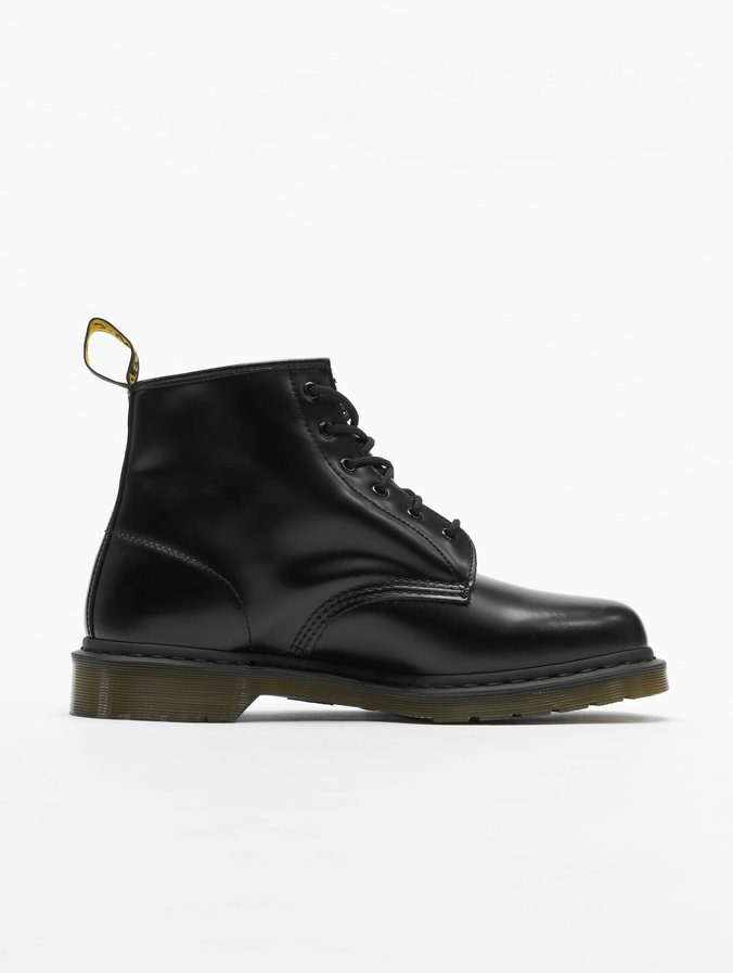 uk store top fashion shop best sellers Dr. Martens 101 PW 6-Eye Smooth Leather Police Boots Black