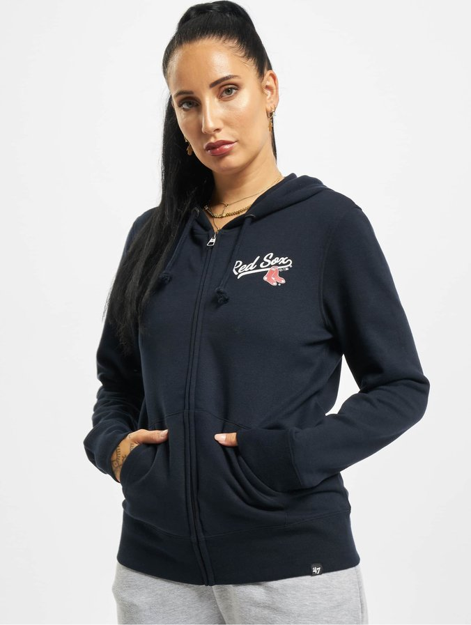 47 Brand Damen Zip Hoodie Mlb Red Sox Headline in blau 762676