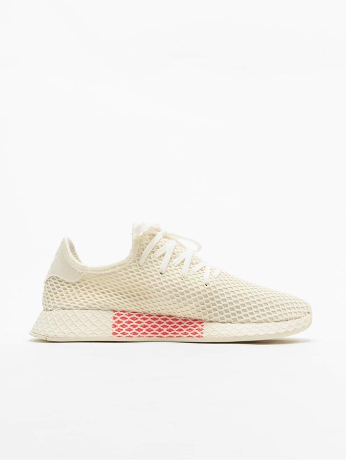 Adidas Originals Deerupt Runner Sneakers Off WhiteFtw WhiteShow Red