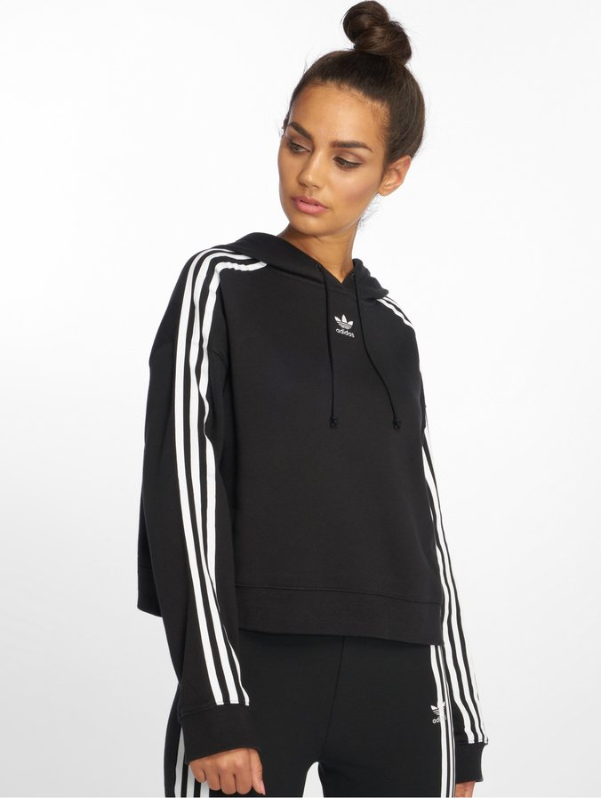 the latest speical offer sold worldwide adidas originals Classico Cropped Hoody Black