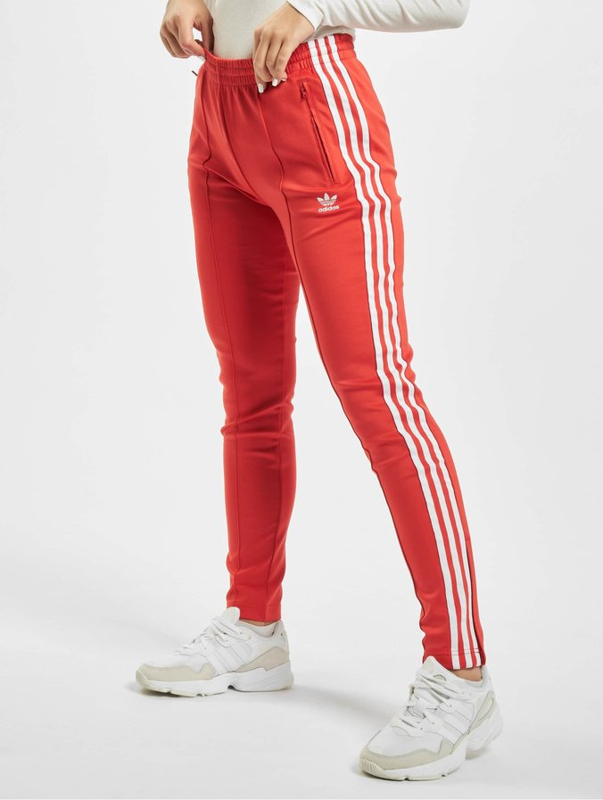 Adidas SS Track Pants Lush Red/White