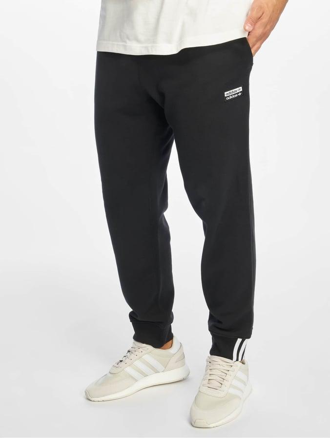 official shop size 7 usa cheap sale Adidas Originals R.Y.V Sweat Pants Black
