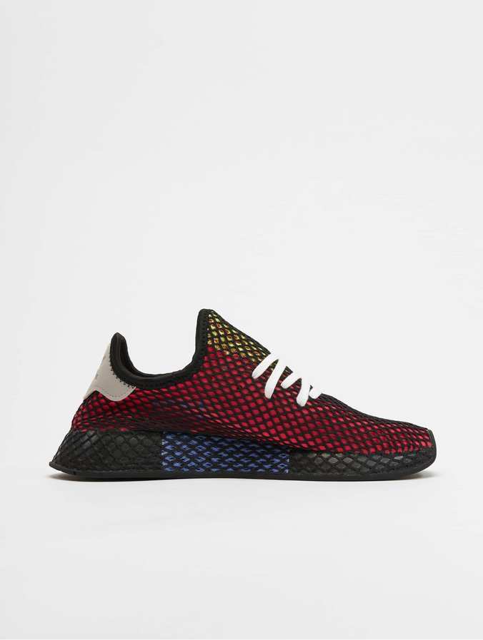 skate shoes classic first look adidas Originals Deerupt Runner Sneakers Shock Red/Realil/Core Black