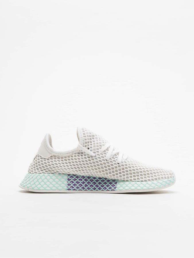 uk myymälä tukkukauppa uusi käsite Adidas Originals Deerupt Runner Sneakers Ftw White/Grey One/Clear Mint