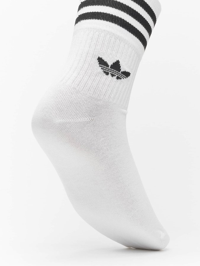 Adidas Originals Mid Cut Solid 3 Pack Socks White