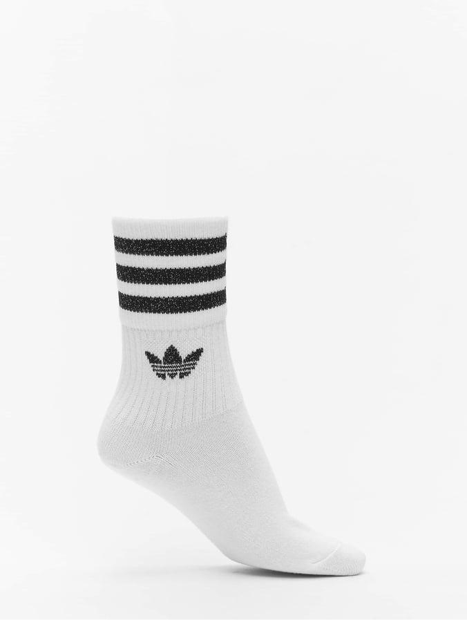 Adidas Originals Mid Cut Glitter 2 Pack Socks White