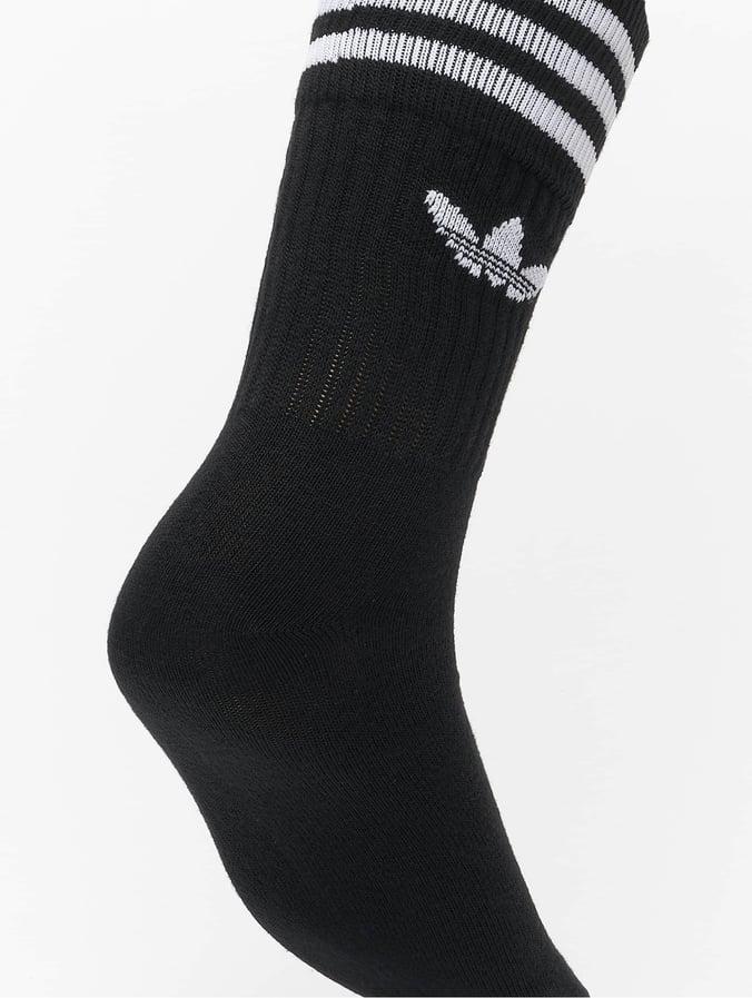 adidas Solid Crew Socks Black