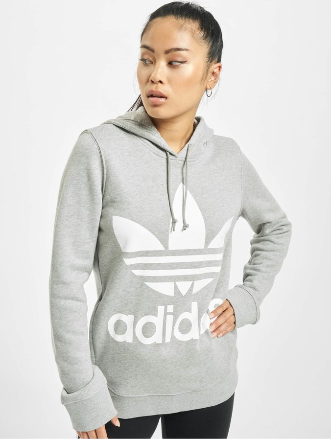 meilleur service 4d366 b874a Adidas Trefoil Hoody Medium Grey Heather