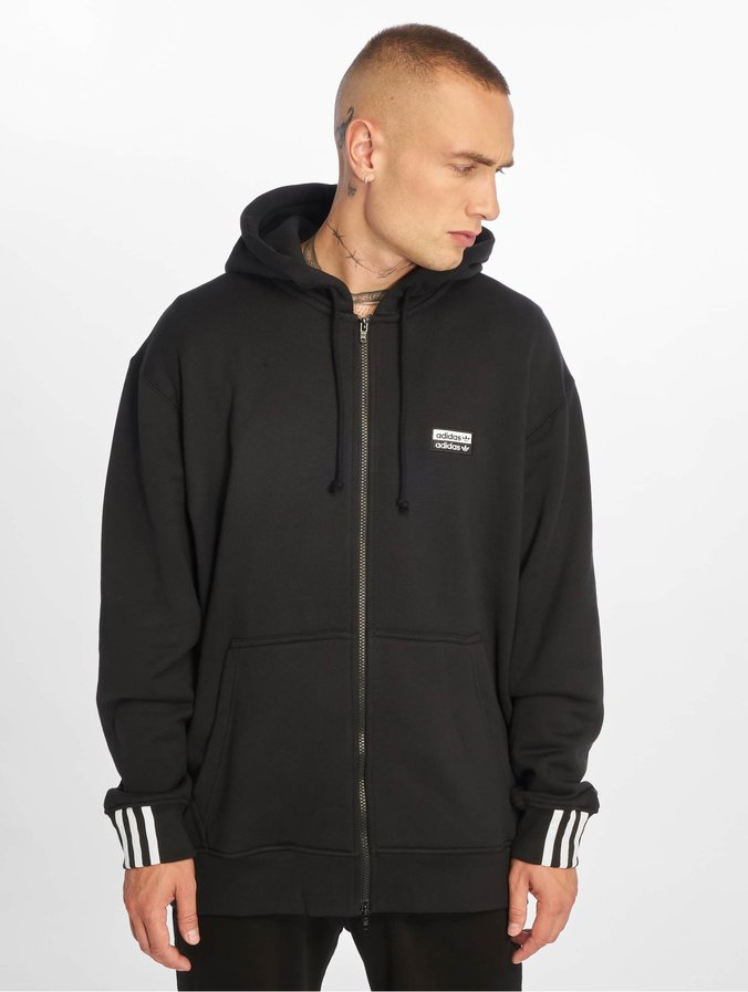 sold worldwide factory price classic shoes Adidas Originals R.Y.V. Full Zip Hoody Black