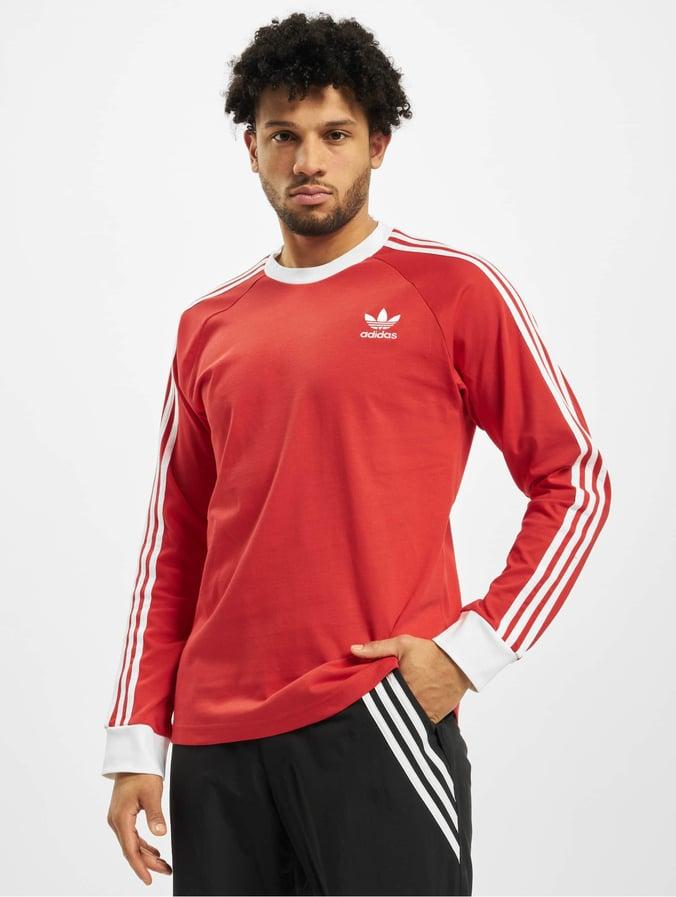 Adidas 3 Stripes Longsleeve Lush Red