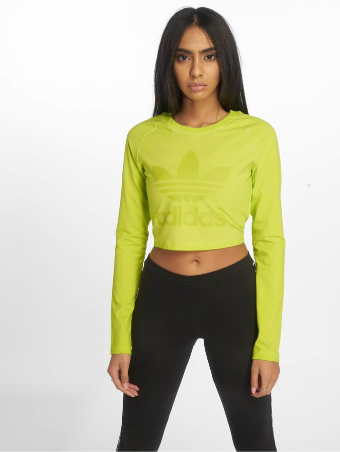 best service classic shoes beauty adidas Crop Longsleeve Semi Solar Yellow