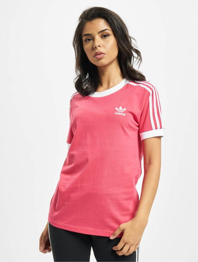 adidas Originals 3 Stripes T Shirt für Damen Pink