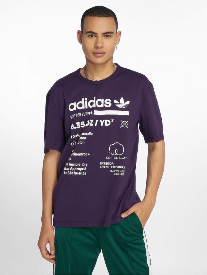 Adidas Originals Kaval Grp Tee T Shirt Dark Violet
