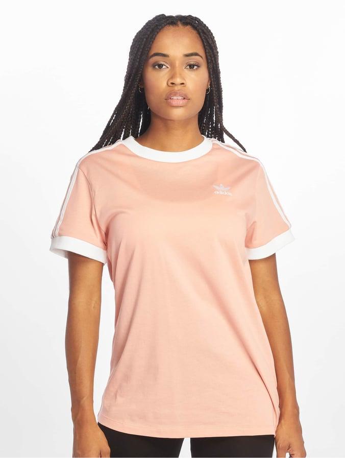 factory outlet look good shoes sale get cheap Adidas Originals 3 Stripes T-Shirt Dust Pink