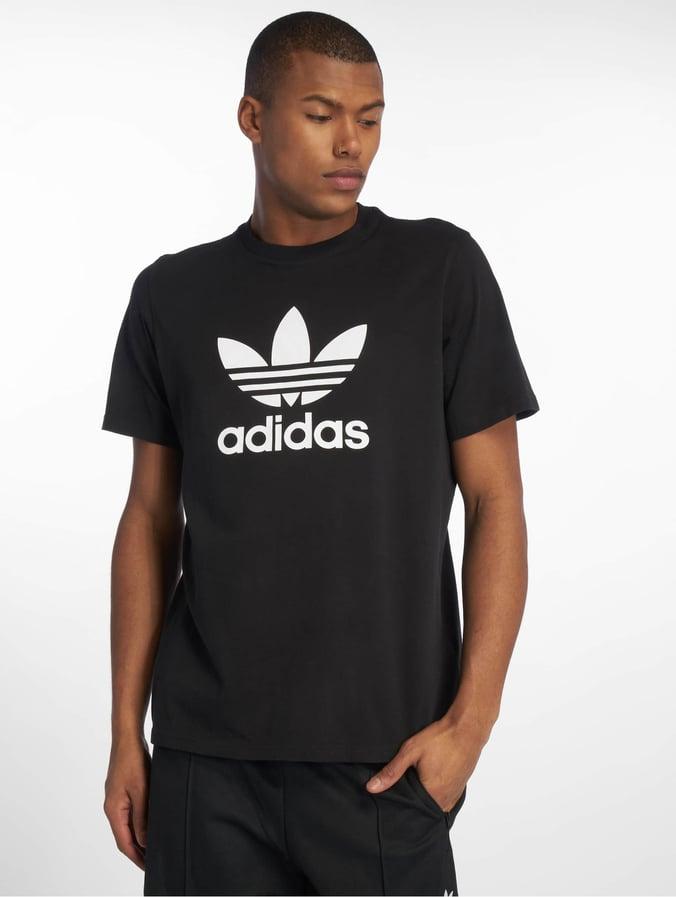 Adidas Trefoil T Shirt weiß schwarz Herren Shirt mit Logo
