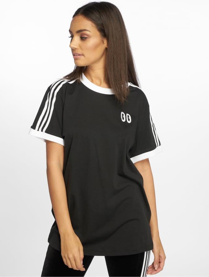 f16ee814b40db7 adidas originals Damen T-Shirt 3 Stripes in schwarz 543513
