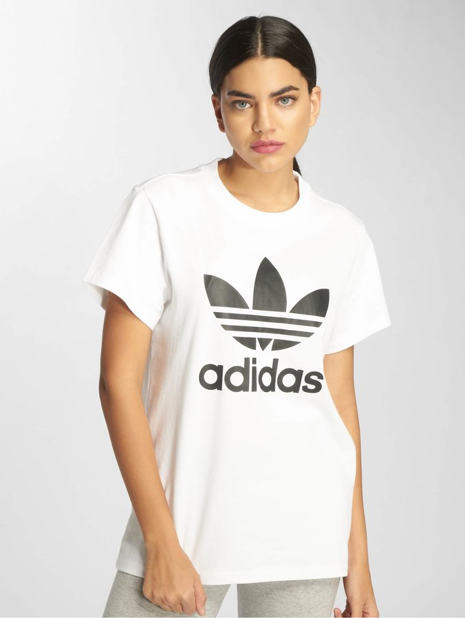 Adidas Originals Boyfriend T Shirt White