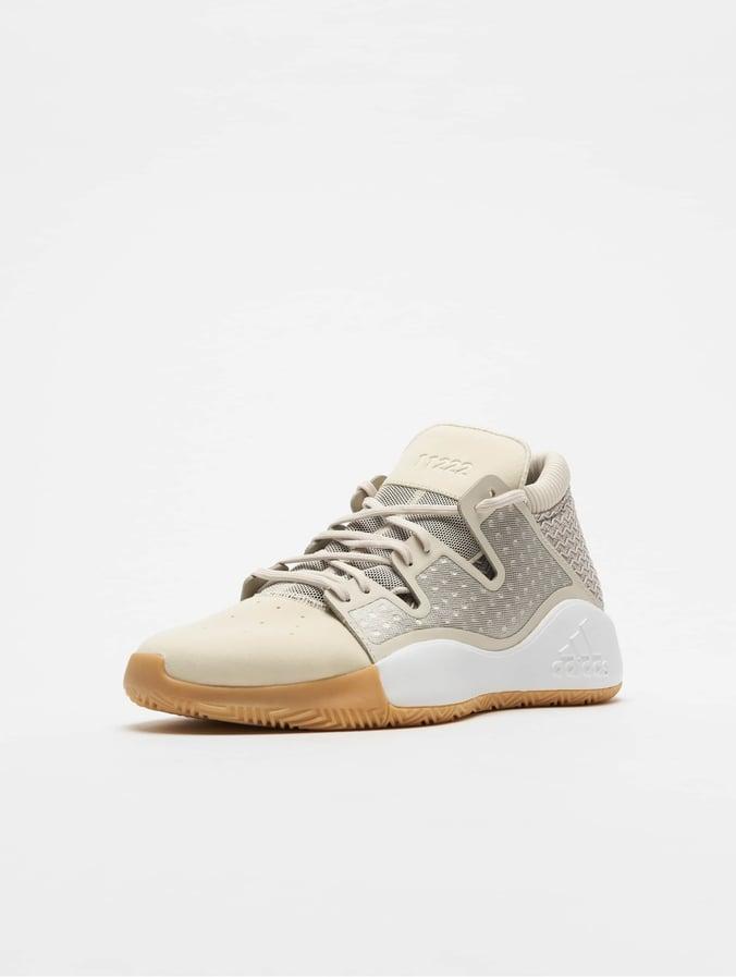 adidas Pro Vision Basketball Shoes Raw WhiteLight BrownGum 3