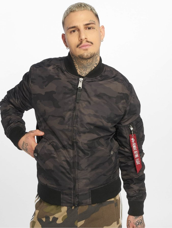 Alpha Industries MA 1 TT Jacket Black Camo