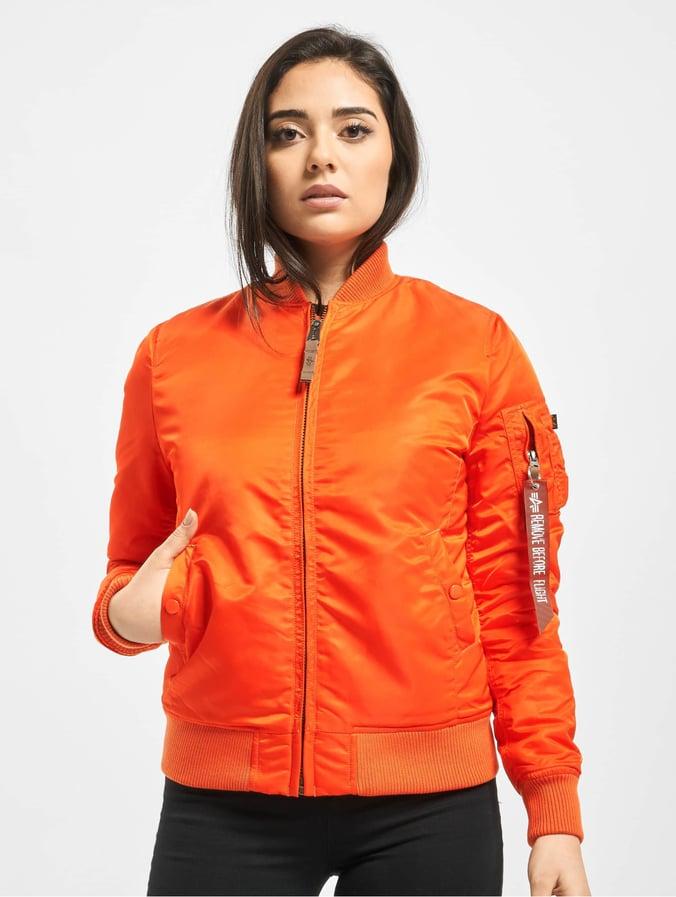 low priced fd18c 0eb84 Alpha Industries Ma 1 VF 59 Women Jacket Flame Orange