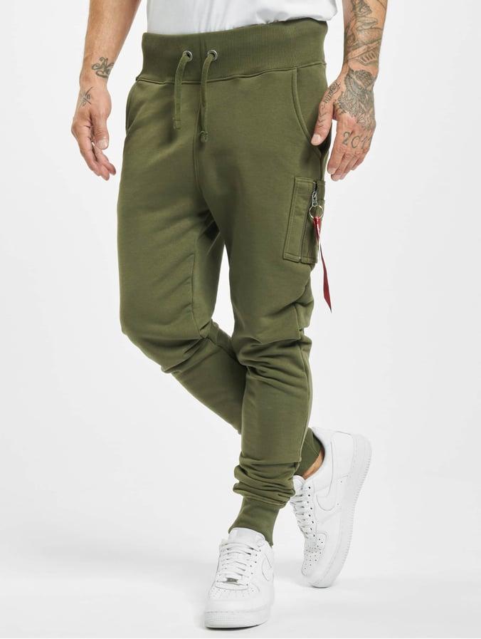 new style 9b13d f586a Alpha Industries X-Fit Slim Cargo Sweatpants Dark Green