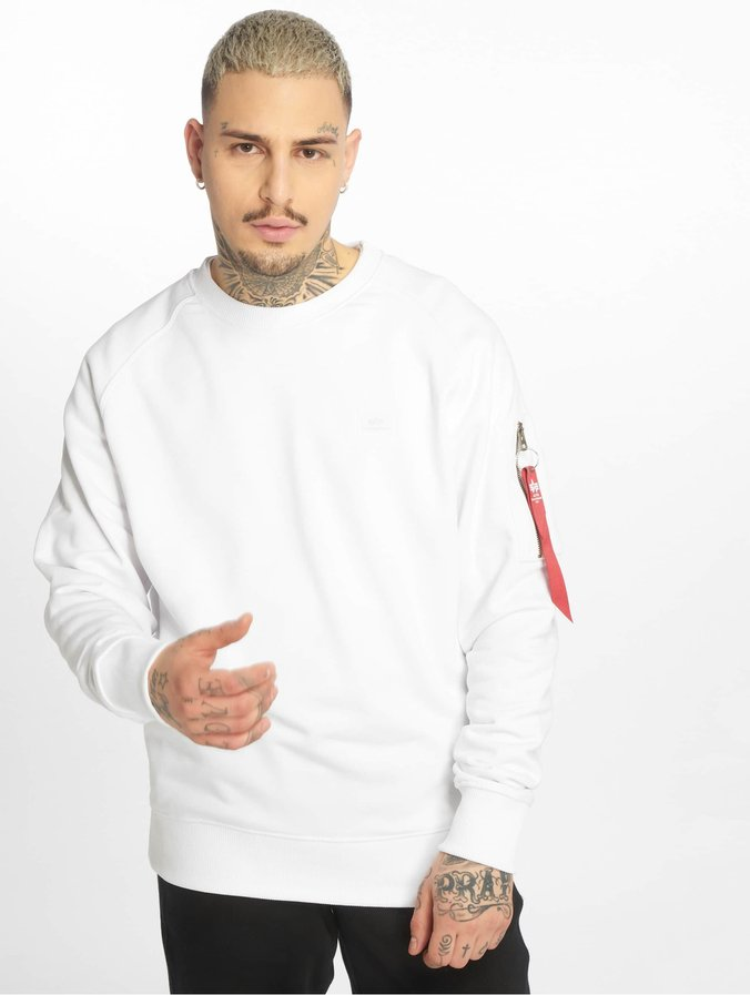 Alpha Industries X Fit Hoodie Weiß S: : Auto