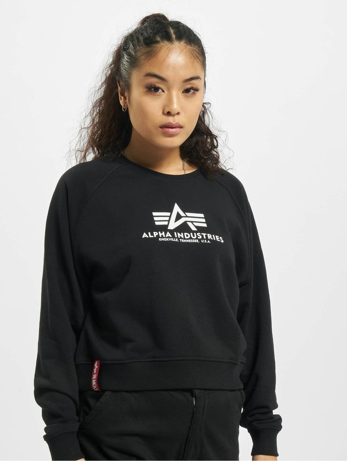 Alpha Industries Basic Boxy Sweatshirt Black