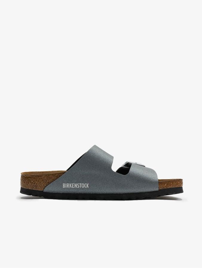 on sale 45f21 3aaff Birkenstock Arizona BF Sandals Icy Metallic Anthracite