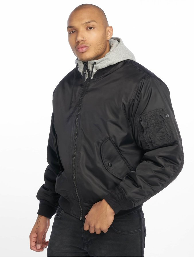 superior quality 7dfb5 0b145 Brandit MA1 Sweat Zip Hoody Black/Grey