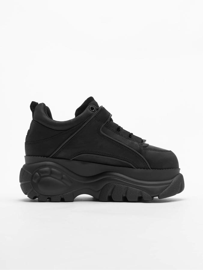 the best attitude 84110 1e232 Buffalo London 1339-14 2.0 V Cow Leather Sneakers Black