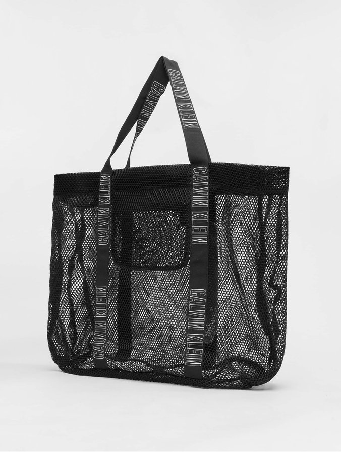 Calvin Klein Mesh Beach Hold All Bag Black