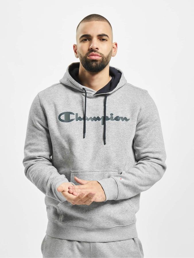hoodie champion homme gris